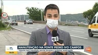 Ponte de Florianópolis terá interdição para recuperação do asfalto - Ponte de Florianópolis terá interdição para recuperação do asfalto
