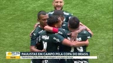 Palmeiras e São Paulo decidem classificações na Copa do Brasil - Times ganharam os jogos de ida na semana passada.