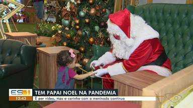 Papai Noel se adapta à pandemia para manter magia do Natal no ES - Assista.