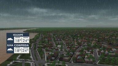 Confira a previsão do tempo para essa quarta-feira - Previsão é de tempo nublado com pancadas de chuva.