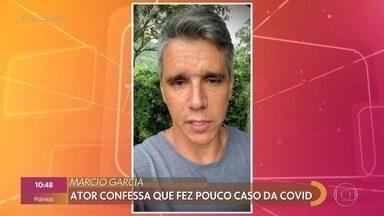 Marcio Garcia pede orações para o pai com Covid-19 - Pai do apresentador está em estado grave