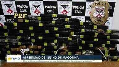 Mais de 150kg de drogas são apreendidos em RO - Entre as prisões feitas está irmão da ex-prefeita investigada na Operação Reciclagem.