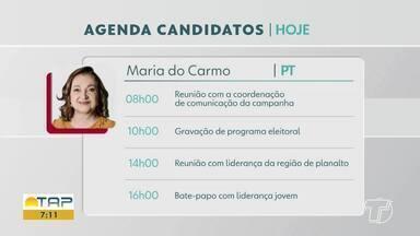 Confira a agenda dos candidatos a prefeitura de Santarém nesta quarta-feira - Saiba mais sobre os compromissos de Nélio e Maria.