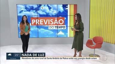 Moradores da zona rural de Santo Antônio de Pádua estão sem energia desde a noite de terça - De acordo com a distribuidora de energia elétrica, um desarme na linha de transmissão Cambuci/Pádua causou a interrupção.