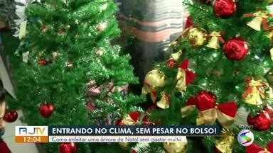 Vendedora mostra maneiras de enfeitar árvore de Natal gastando pouco - Principal símbolo dessa época do ano pode ter vários tamanhos e ser decorado de muitas formas, basta usar a criatividade.