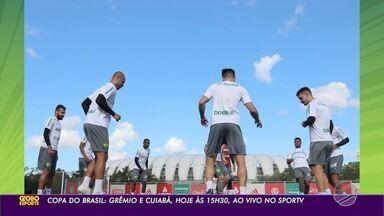 Cuiabá se prepara para enfrentar o Grêmio - Cuiabá se prepara para enfrentar o Grêmio.