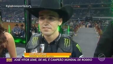 Peão de MS é campeão mundial de rodeio - José Vitor Leme trocou o futebol pela montaria em touros para a surpresa da família