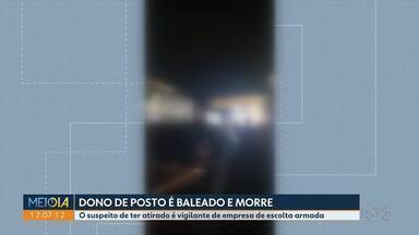 Dono de posto morre baleado por vigilante de escolta armada de ônibus - Disparo foi feito ontem (18) à noite depois de um desentendimento entre os dois.