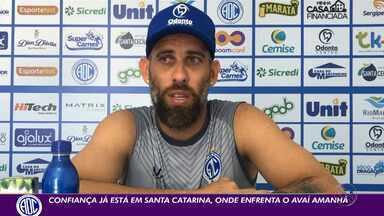 Rafael Santos fala sobre momento especial na carreira com o Confiança - Goleiro assumiu recentemente a braçadeira de capitão azulino.