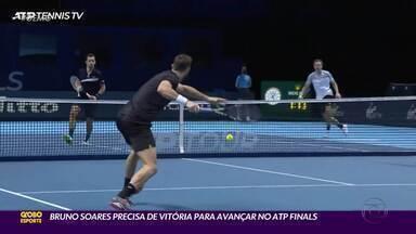 Bruno Soares precisa vencer para seguir no torneio de duplas do ATP Finals - Bruno Soares precisa vencer para seguir no torneio de duplas do ATP Finals