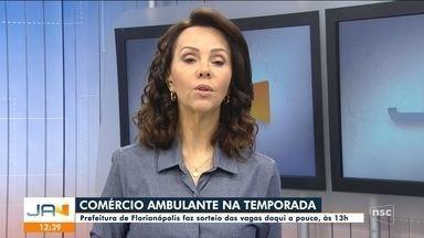 Prefeitura de Florianópolis faz sorteio das vagas para ambulantes - Prefeitura de Florianópolis faz sorteio das vagas para ambulantes