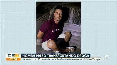 Homem é presos transportando droga no bairro São João do Tauape - Saiba mais no g1.com.br/ce