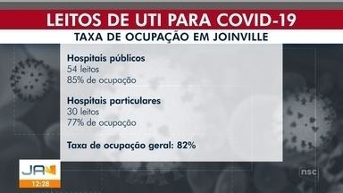 Taxa de ocupação dos leitos de UTI volta a subir em Joinville - Taxa de ocupação dos leitos de UTI volta a subir em Joinville