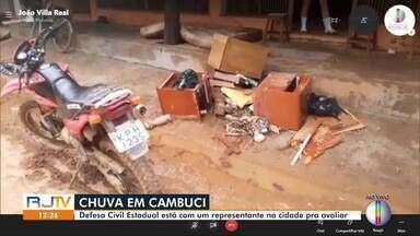 Defesa Civil do Estado tem representantes visitando Cambuci - Cidade foi a mais afetada pela chuva que atingiu o Noroeste Fluminense desde terça-feira.