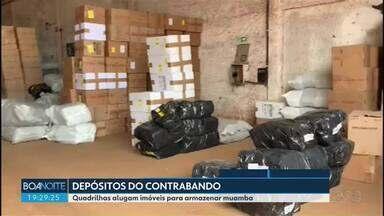 Quadrilhas alugam imóveis para armazenar muamba na região de Foz do Iguaçu - São usados quartos de hotel, casas e sítios para esconder as mercadorias contrabandeadas.