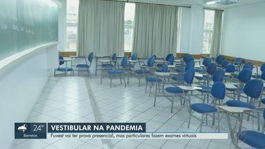 Fuvest vai ter prova presencial, mas particulares fazem vestibular virtual - Por causa da pandemia, regras foram estabelecidas aos estudantes.