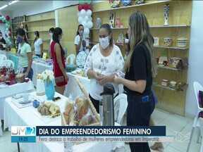 Feira é realizada em Imperatriz pelo Dia Mundial do Empreendedorismo Feminino - Evento ocorreu como forma de incentivar mais mulheres a buscarem este novo desafio no mercado de trabalho.
