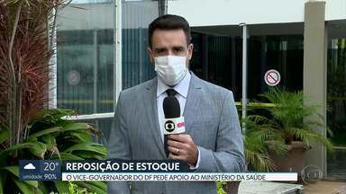 GDF pede ajuda ao Governo Federal para repor estoque de máscaras nos hospitais públicos - Pedido foi feito pelo vice-governador, Paco Brito, no Ministério da Saúde. Enquanto isso, leitos de UTI estão bloqueados no HRAN por falta de insumos.
