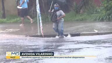 Drone do Bom Dia Minas: moradores esperam por obras para resolver alagamentos na Vilarinho - Local é ponto conhecido na cidade por tragédias em período chuvoso.
