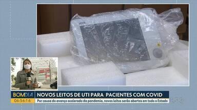 Avanço da pandemia faz com que o Estado reabra novos leitos de UTI - Secretaria Estadual de Saúde divulgou 2.039 novos casos em todo o Paraná.