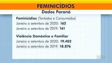Aumenta o número de casos de violência doméstica e de feminicídios com relação a 2019 - De janeiro a setembro de 2020, foram mais de 19 mil casos de violência doméstica no Paraná.