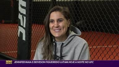 Jennifer Maia e Deiveson Figueiredo lutam neste sábado no UFC - Jennifer Maia e Deiveson Figueiredo lutam neste sábado no UFC