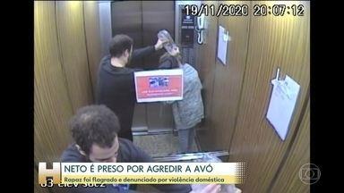 Rapaz é preso no Rio de Janeiro por agredir a avó - Segundo a polícia, neto de 21 anos confessou as agressões em depoimento.