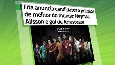 Arrascaeta concorre a Prêmio Puskas e Neymar é um dos candidatos a melhor do mundo - Arrascaeta concorre a Prêmio Puskas e Neymar é um dos candidatos a melhor do mundo