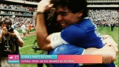 Morte de Maradona: futebol perde um dos maiores da história - Galvão Bueno e Ana Maria lamentam perda do argentino