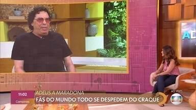 Casagrande lamenta morte de Maradona: 'Foi um impacto muito forte' - Fãs do mundo todo se despedem de Maradona