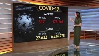 Brasil registra 173.165 mil mortes causadas pela Covid-19 - Veja os números atualizados da pandemia no Brasil, segundo dados do consórcio de veículos de imprensa.