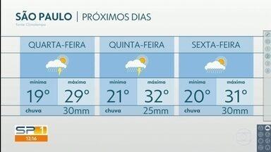 Semana segue com previsão de muita chuva na Grande São Paulo - Veja também: o que esperar do mês de dezembro.
