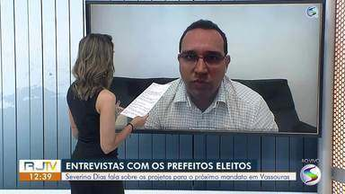 RJ1 entrevista prefeito reeleito de Vassouras, Severino Dias - Chefe do executivo municipal responde dúvidas de moradores e fala sobre o planos para o novo mandato.