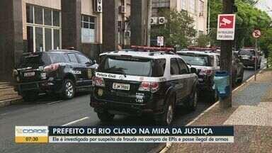 Justiça determina que prefeito de Rio Claro e secretários sejam afastados dos cargos - Eles são investigados por compra de EPIs no valor de R$ 4 milhões.