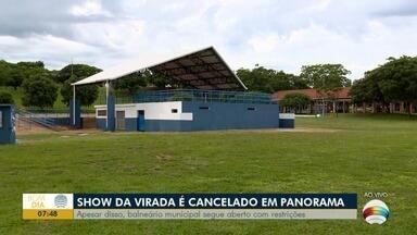 Show da virada de ano é cancelado em Panorama - Apesar disso, o balneário municipal segue aberto, com restrições.