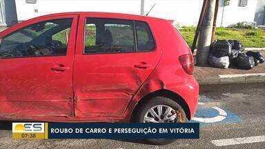 Roubo de carro termina em perseguição em Vitória, no ES - Assista.