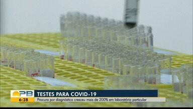 Procura por testes de coronavírus cresceu mais de 200% em laboratório de João Pessoa - População está procurando diagnósticos