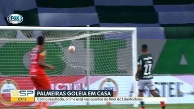 Palmeiras goleia e se classifica para as quartas da Libertadores - E o Corinthians empatou com o Fortaleza pelo Brasileirão.