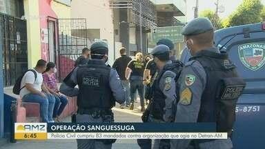 Polícia faz operação contra quadrilha suspeita de desviar R$ 30 milhões em impostos - São cumpridos 83 mandados de prisão e busca e apreensão em Manaus.