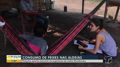 Pesquisa aponta mercúrio no organismo de índios Munduruku - Reportagem produzida por Ayla Tapajós e realizada por Jaderson Moreira com imagens de Jones Maia, foi destaque no Bom Dia Pará e no Hora1, telejornal nacional da TV Globo.