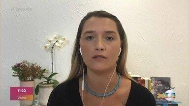 Ana Thaís Mattos comenta a rodada de futebol desta quarta-feira - Comentarista aproveita para mandar mensagem para Fátima Bernardes