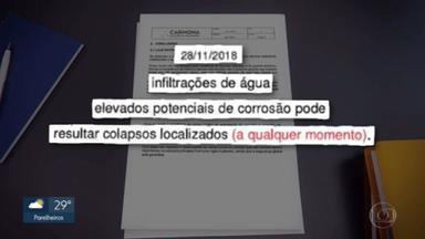 Documentos mostram que marquise interditada do Parque Ibirapuera tinha problemas desde 2019 - Uma liminar determinou a interdição total da marquise.