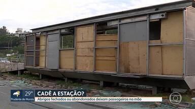 Passageiros reclamam de estações fechadas e abandonadas na MG-010 - Situação se complicou durante a pandemia.