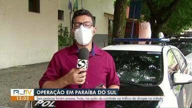 Seis pessoas são presas em operação da Polícia Civil em Paraíba do Sul - Objetivo da ação foi cumprir mandados de prisão contra quadrilhas envolvidas com o tráfico de drogas.