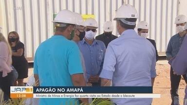 Ministro de Minas e Energia faz quinta visita ao Amapá desde o apagão - Ministro de Minas e Energia faz quinta visita ao Amapá desde o apagão