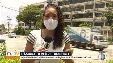 Câmara de Vereadores vai devolver R$ 1 milhão e 300 mil para a prefeitura de Campos, no RJ - Com este dinheiro, há a possibilidade do município pagar os funcionários por RPA.