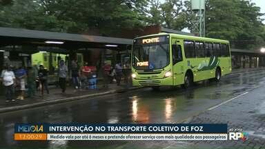 Prefeitura de Foz do Iguaçu decreta intervenção no transporte coletivo - Medida vale por até seis meses e pretende oferecer serviço com mais qualidade aos passageiros.