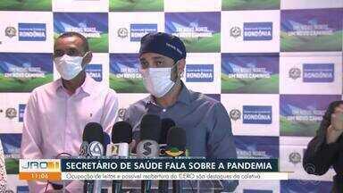 Secretário de Saúde, Fernando Máximo, fala sobre pandemia em Rondônia - Ocupação de leitos e possível reabertura do CERO são destaques da coletiva.