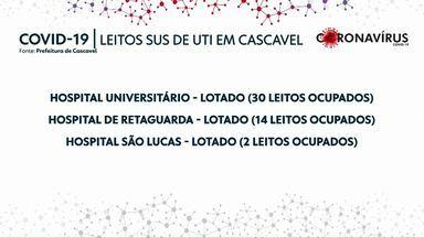 Colapso nos atendimentos da Covid-19 em Cascavel - Desde a noite de quarta-feira a cidade está sem leito de UTI para pacientes com coronavírus.