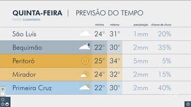 Confira a previsão do tempo no Maranhão - Veja a variação das temperaturas em várias cidades do estado.
